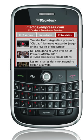 Descargate la app para BlackBerry